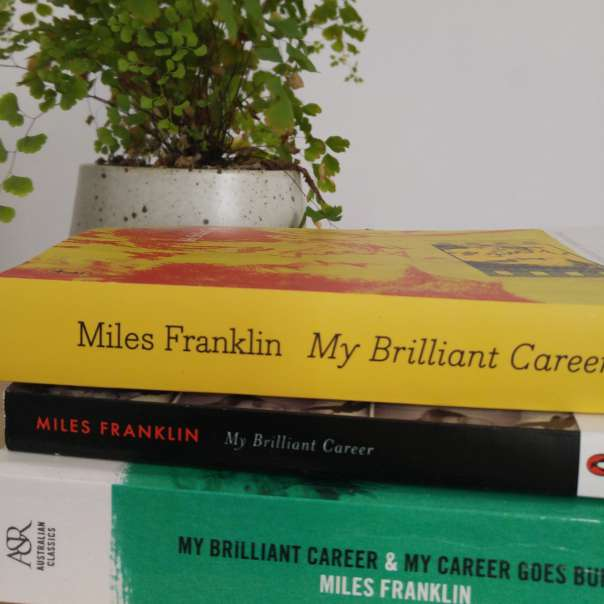 Stack of three My Brilliant Career books